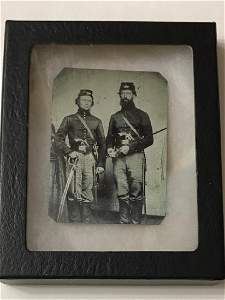 1860's CIVIL WAR Full Dress Tin Type Photograph