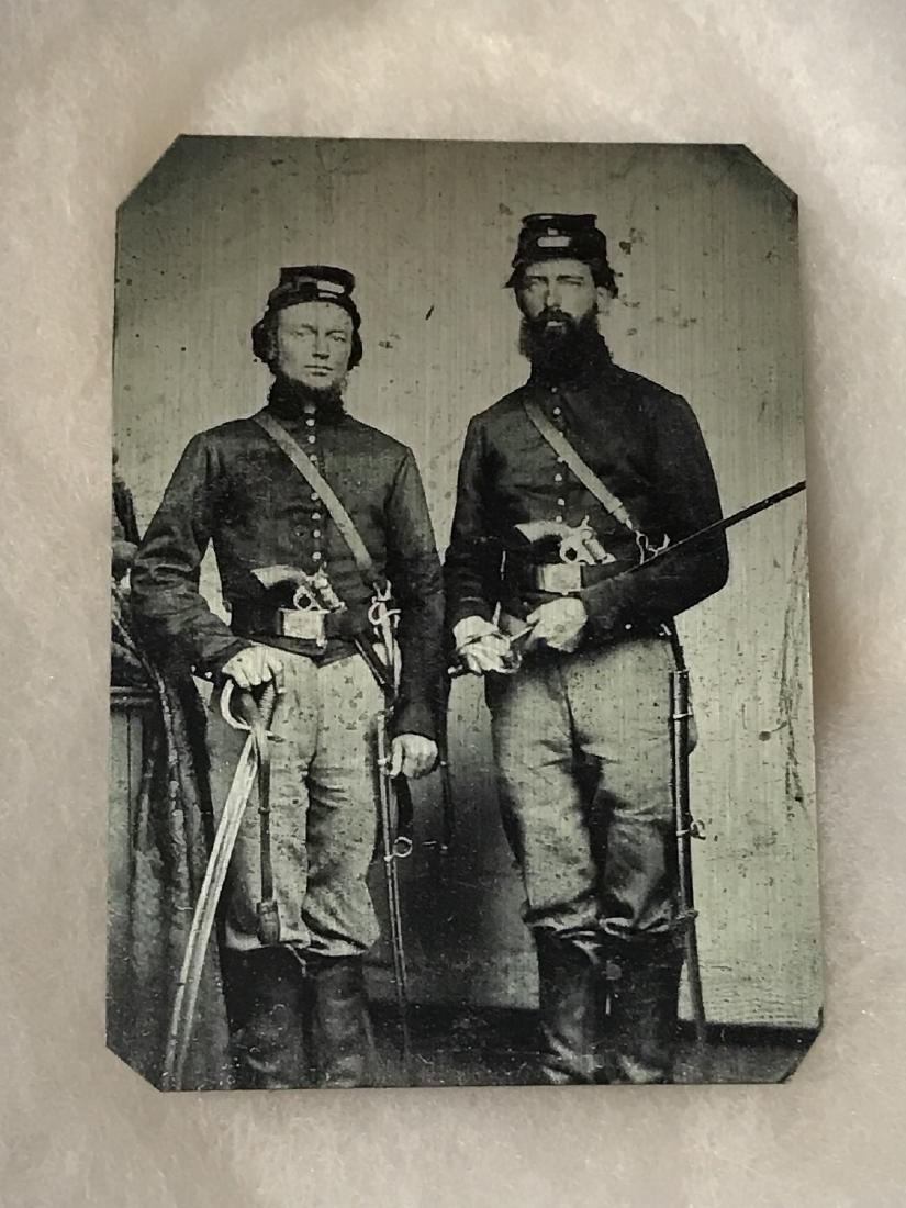 1860's CIVIL WAR Full Dress Tin Type Photograph - 2
