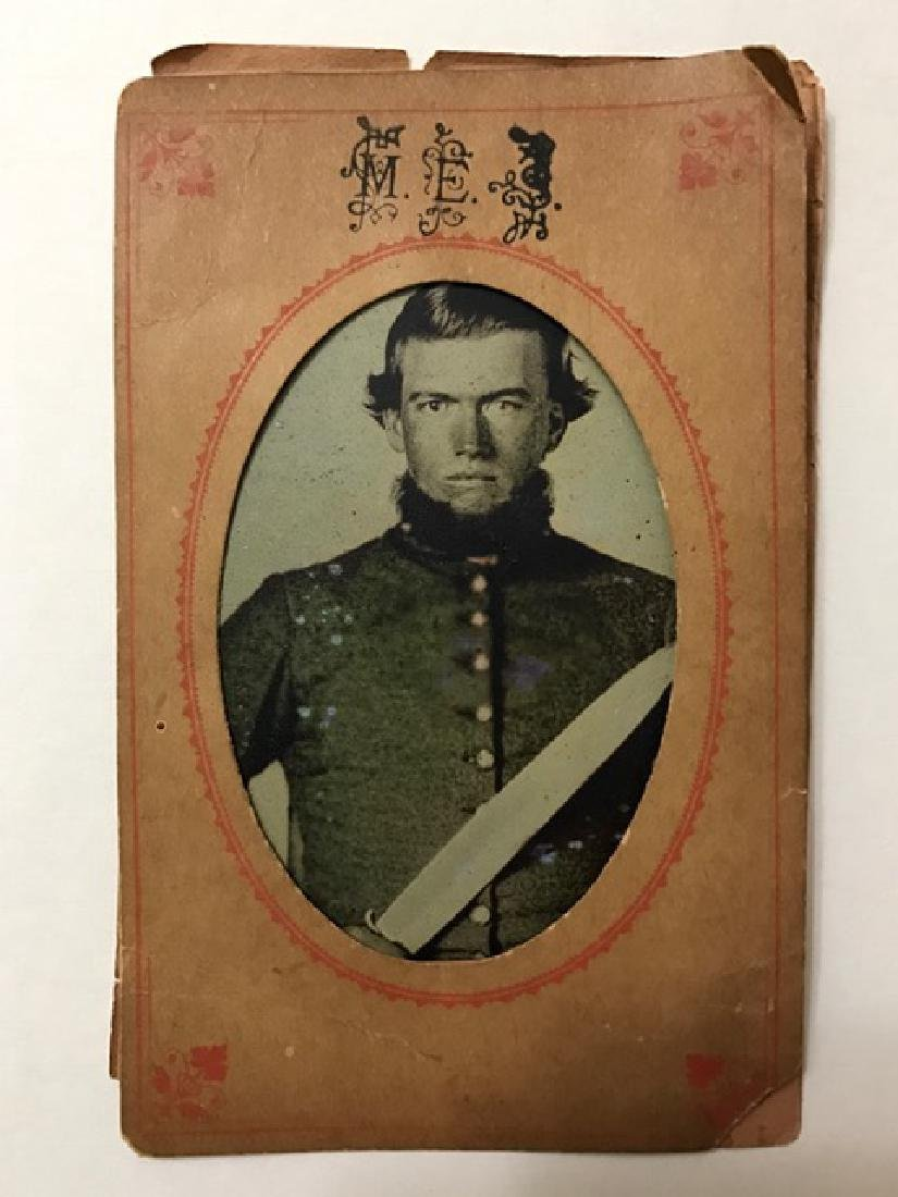 1860's CIVIL WAR Full Dress Tin Type Photograph