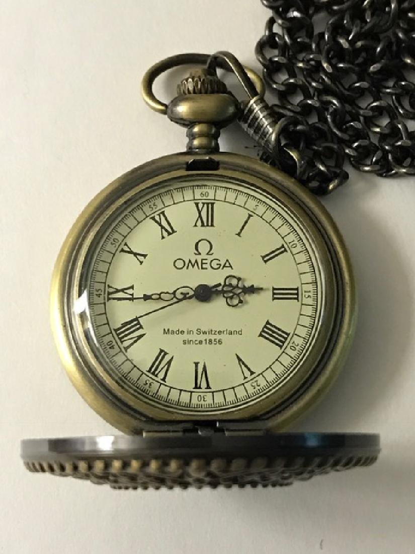 Elegant OMEGA Swiss Mechanical VTG Pocket Watch - 3