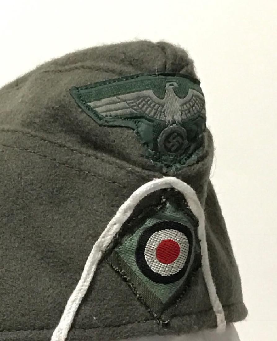 Authentic German Nazi Soldier's Wool Uniform Hat - 2