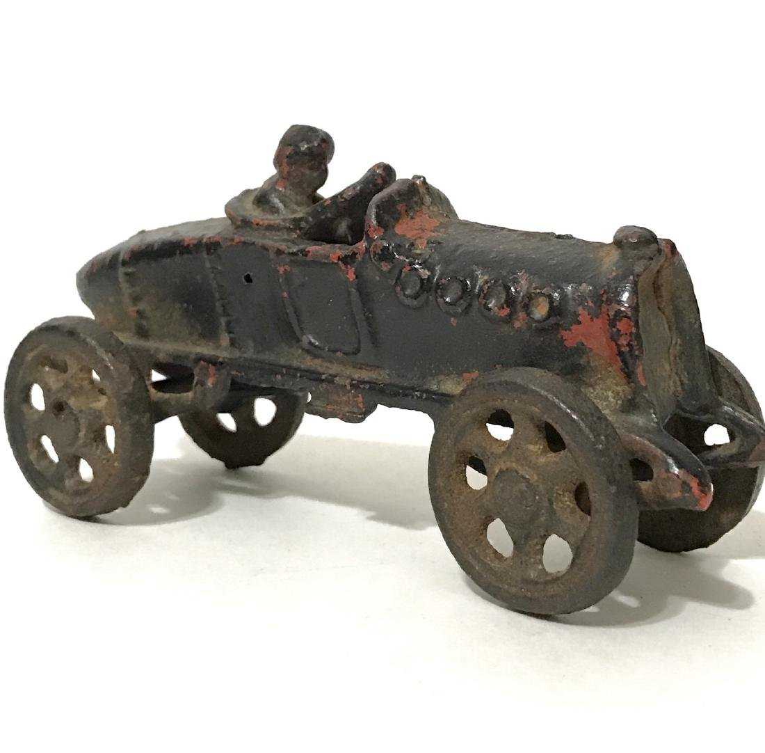 1930's HUBLEY Cast Iron Toy Soapbox Race Car