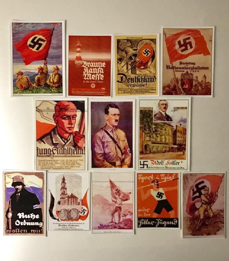 Lot of 12 Adolf Hitler Nazi Campaign Propaganda