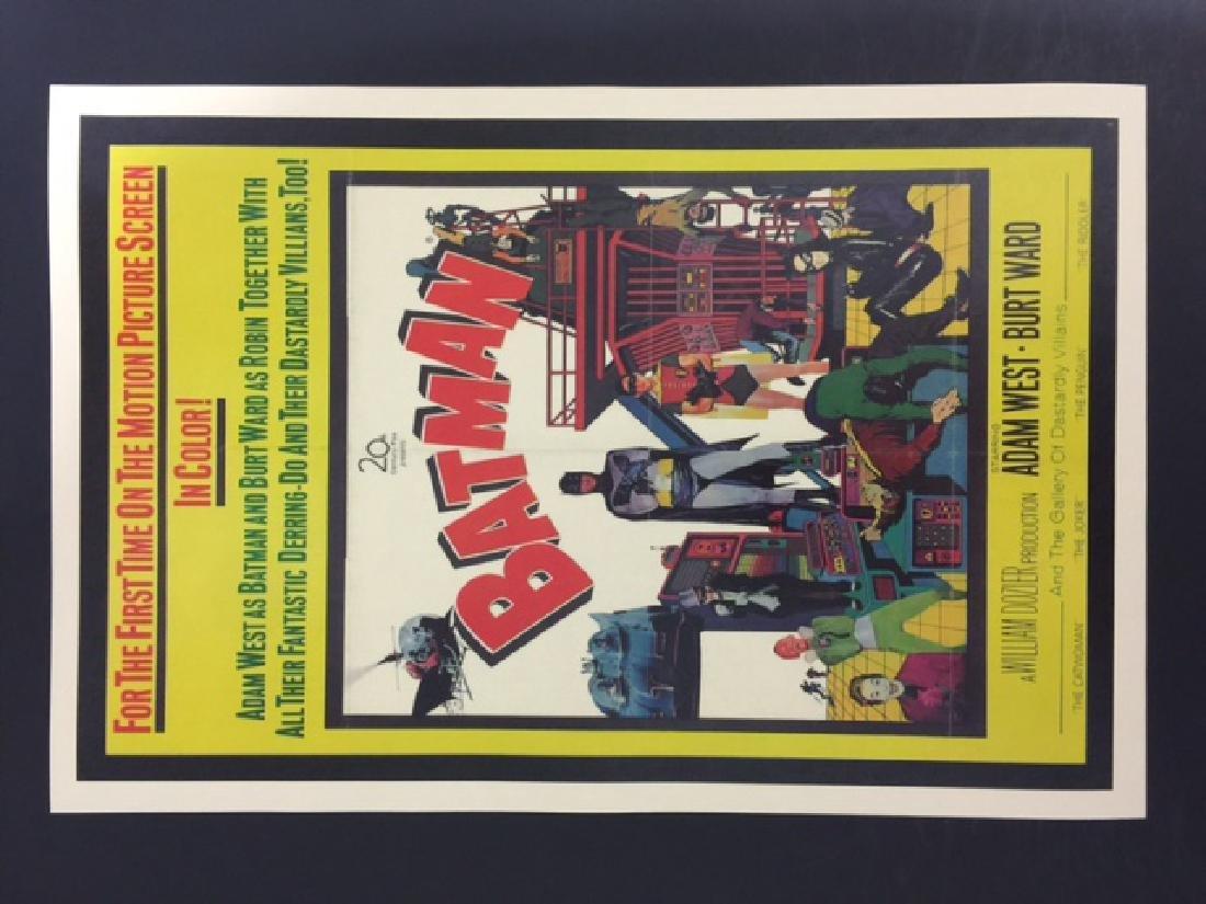 1960's BATMAN Movie Premiere Lobby Card Poster