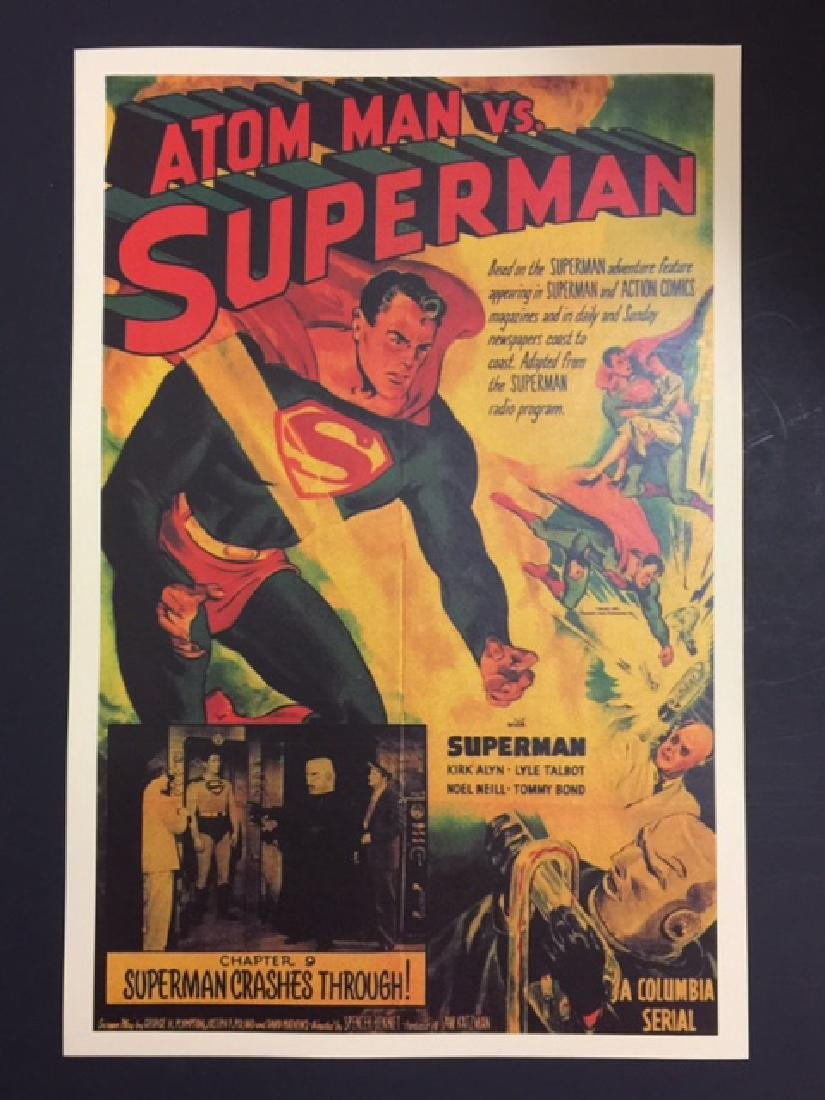 1940's SUPERMAN vs ATOM MAN Lobby Card Poster
