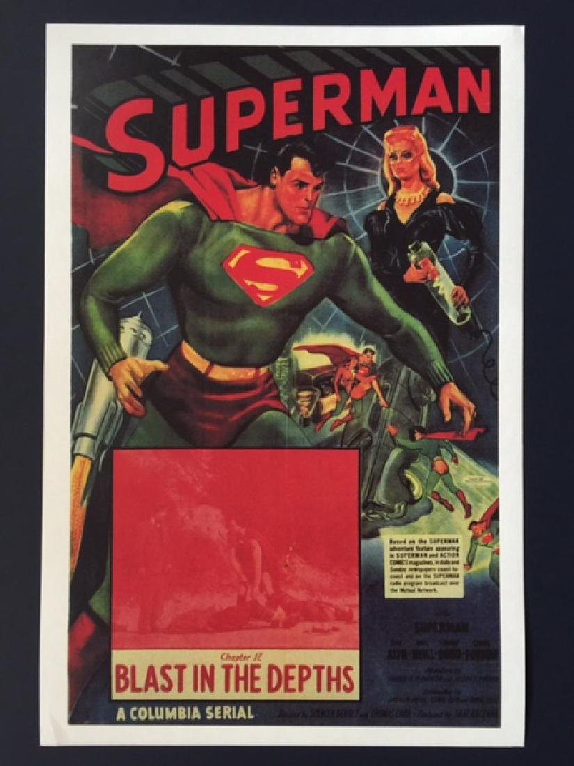 SUPERMAN Blast in the Depths Lobby Card Poster