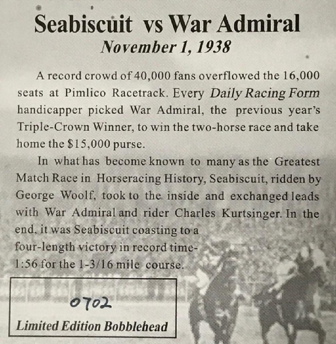 Rare 1938 Sea Biscuit vs War Admiral Bobble Horses - 2