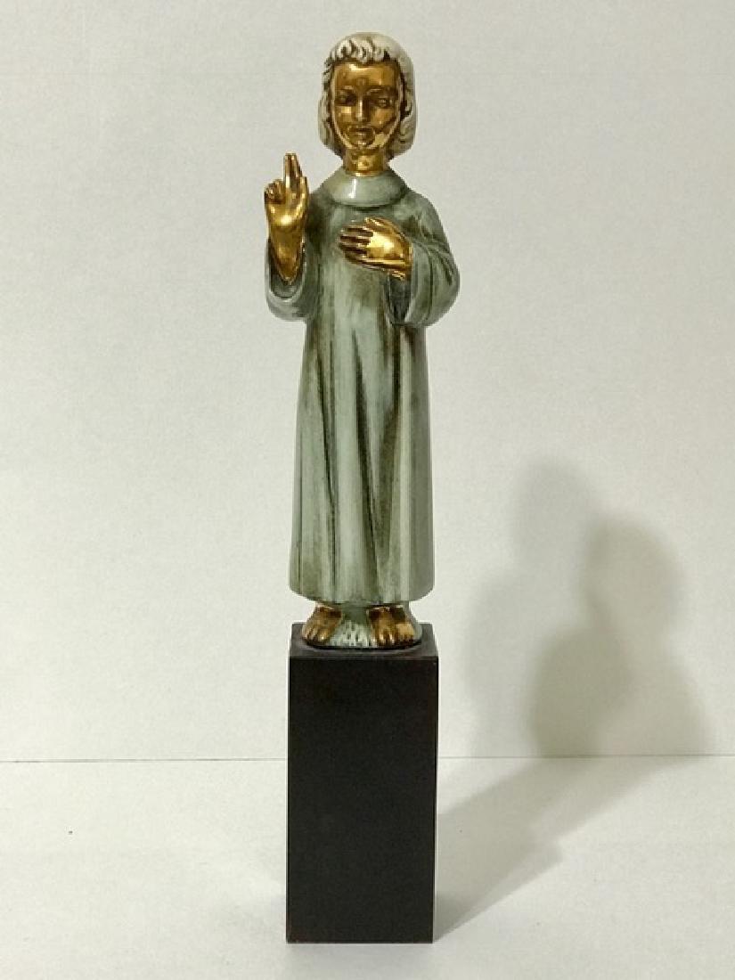 """RARE Signed CYBIS Porcelain Religious Figurine 11"""""""