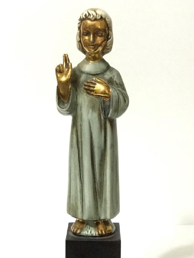 """RARE Signed CYBIS Porcelain Religious Figurine 11"""" - 2"""