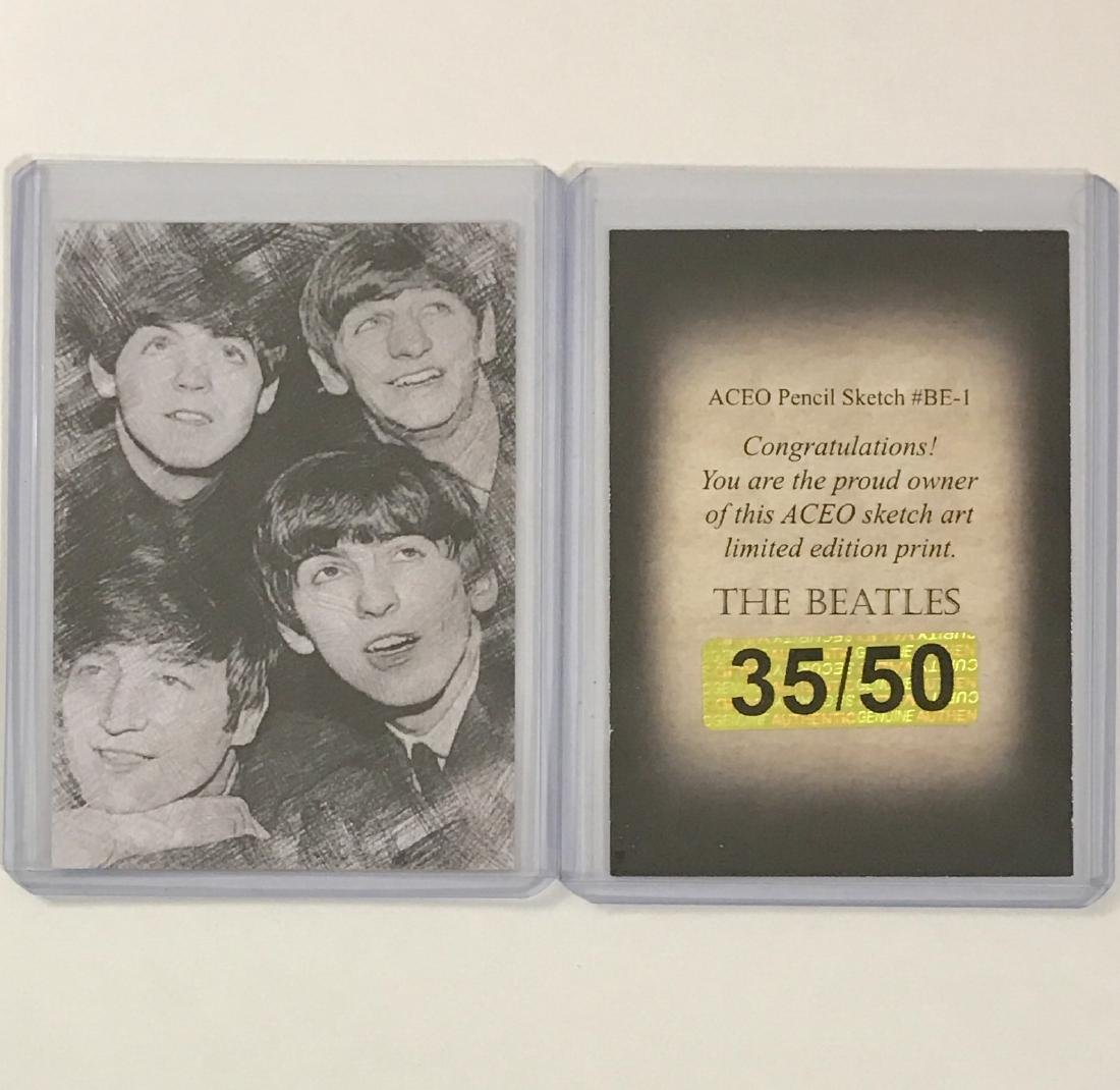 """Rare """"The BEATLES†Limited Edition Sketch Art Card"""