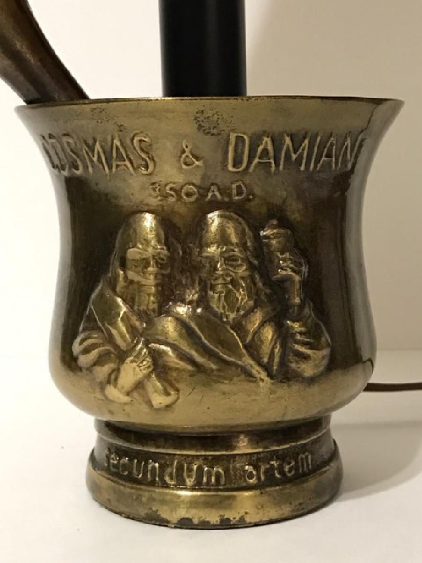 Unique Bronze Mortar & Pestle Based Working Lamp - 2