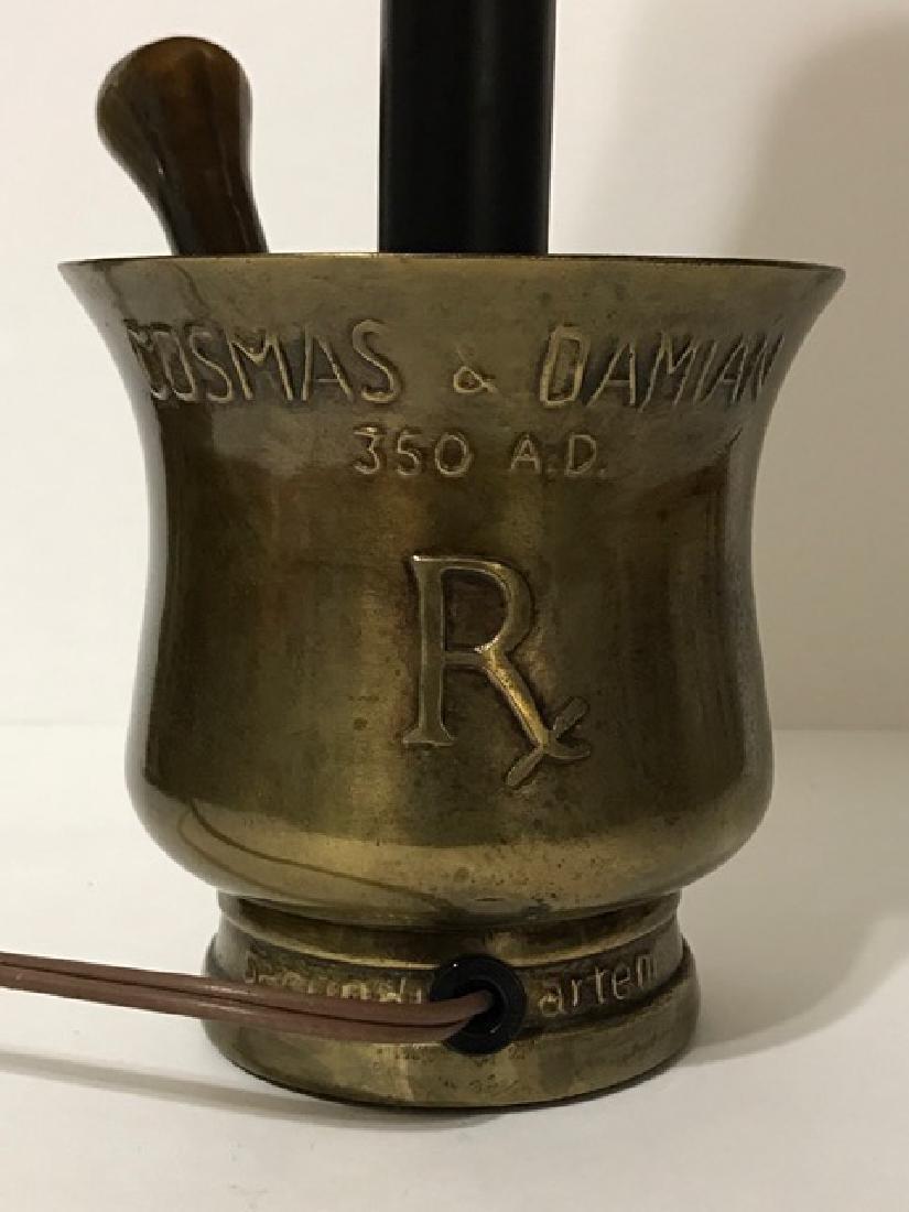 Unique Bronze Mortar & Pestle Based Working Lamp - 3