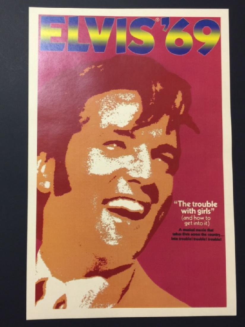 1969 ELVIS PRESLEY Movie Theatre Lobby Card Poster