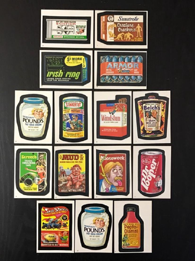 15 Rare Original TEST Issue Wacky Packages Cards