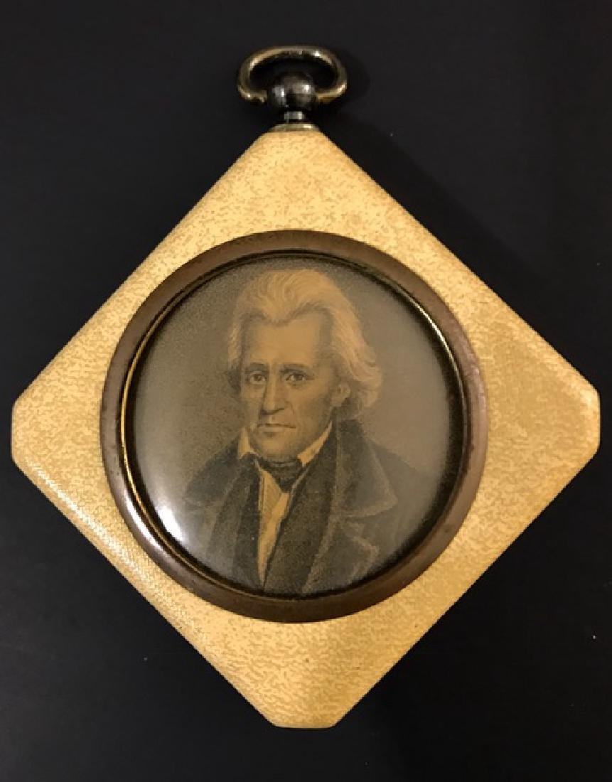 19th Century Presidential Portrait in Celluloid Frame