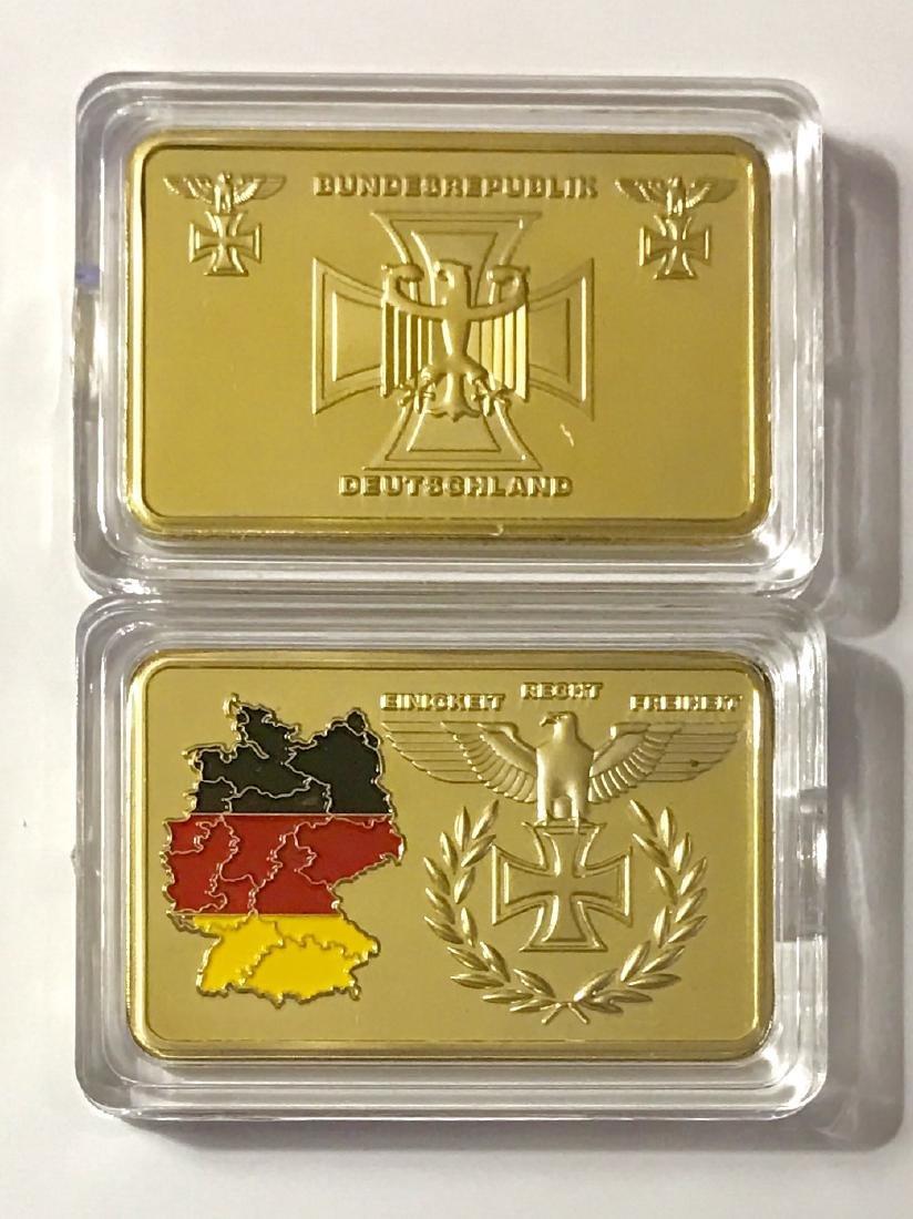 1oz .999 Post Nazi Germany Gold Clad Bullion Bar