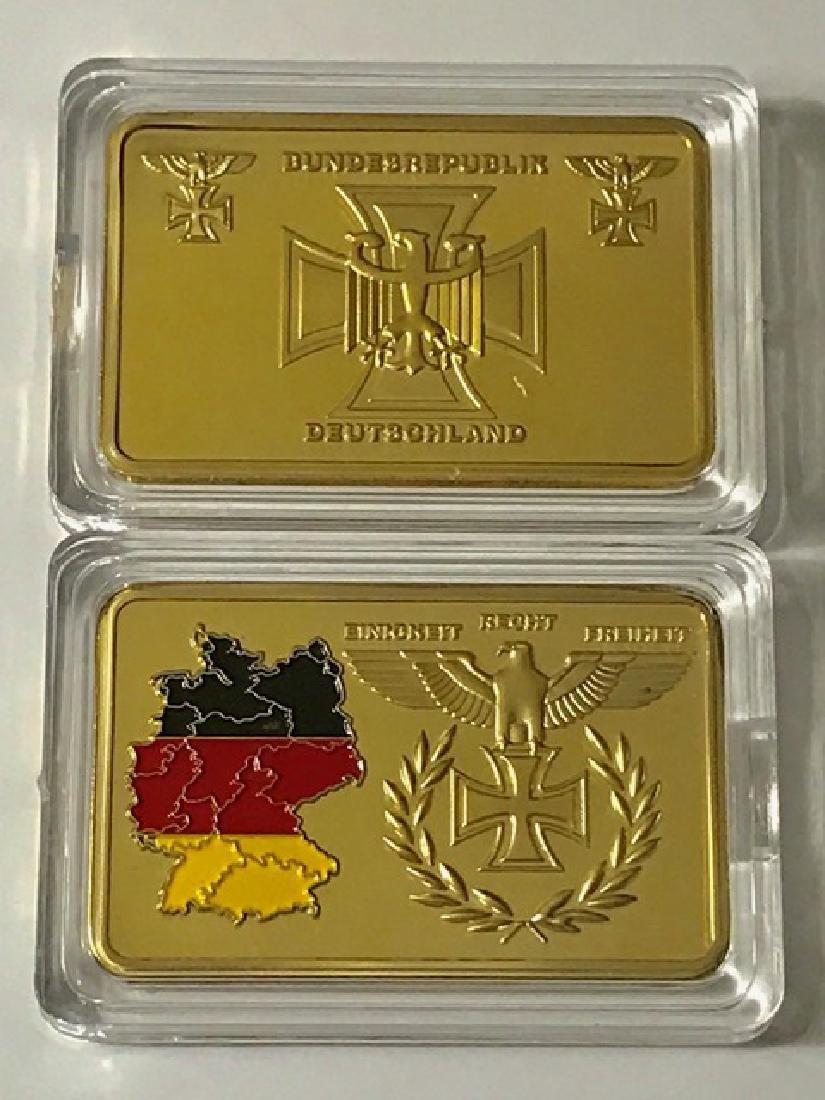 1oz .999 Post Nazi Germany Gold Clad Bullion Bar - 2