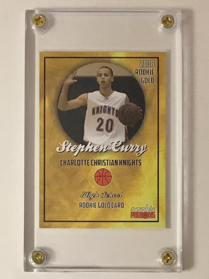 STEPHEN CURRY Pre-NBA Rookie Gold Basketball Card