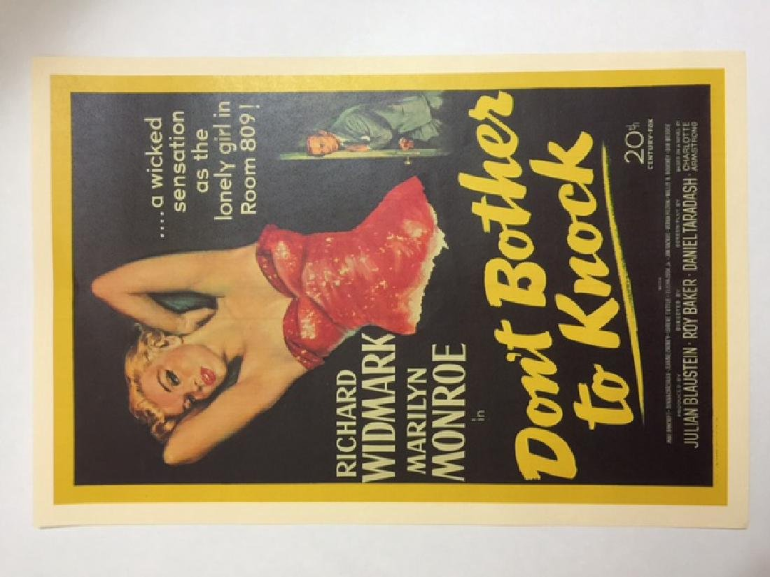 MARILYN MONROE Movie Theatre Lobby Card Poster