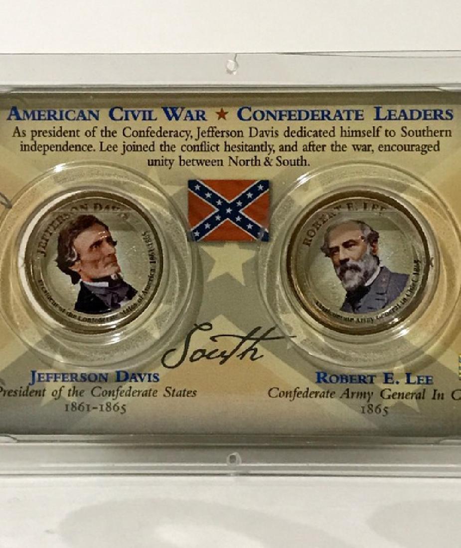 American Civil War Union/Confederate Leader Coins - 2