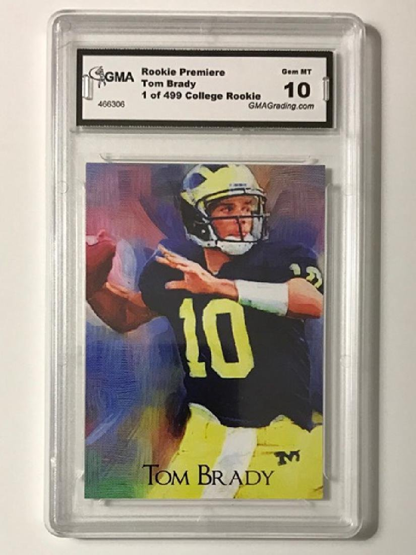 Gem 10 TOM BRADY Rookie Premiere Football Card