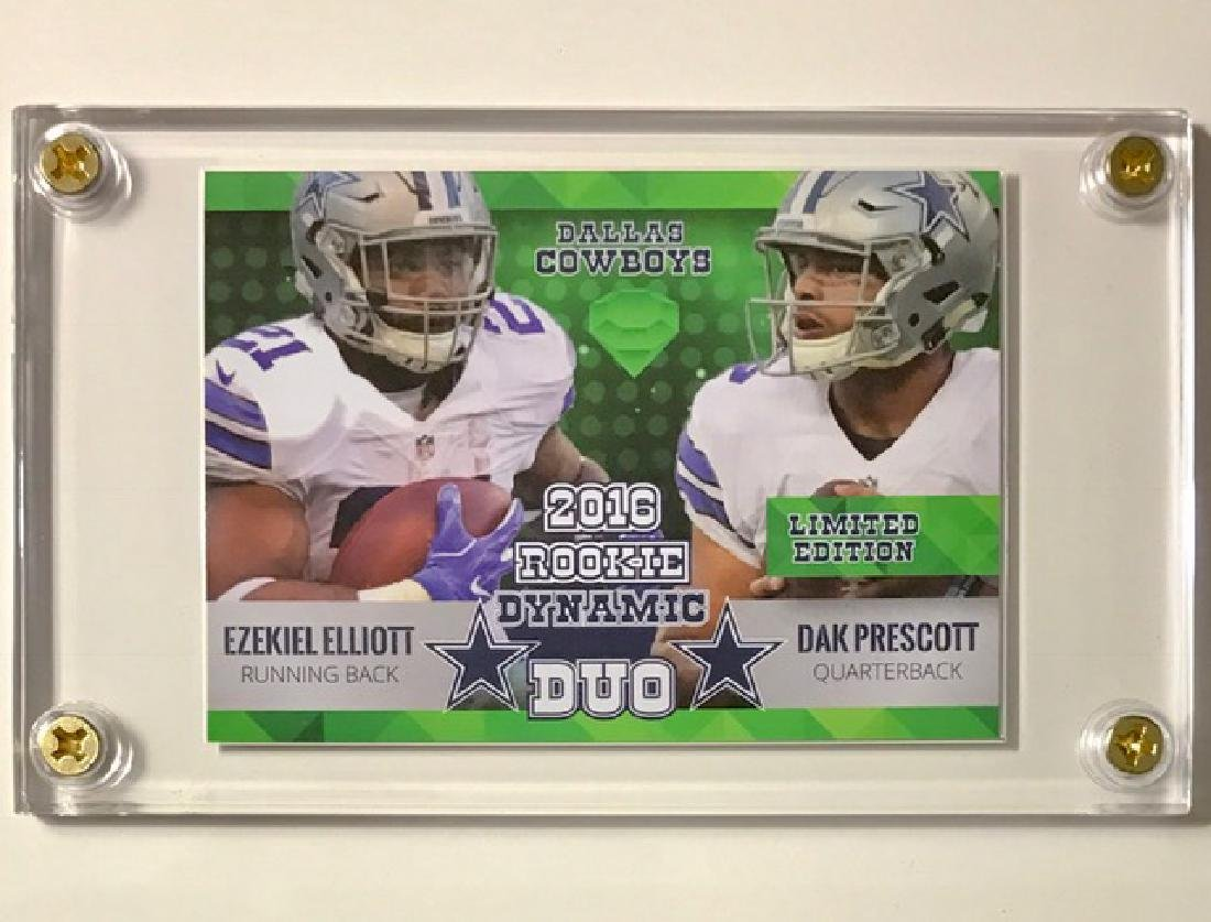 Rare PRESCOTT & ELLIOTT Rookie DUO Football Card - 2