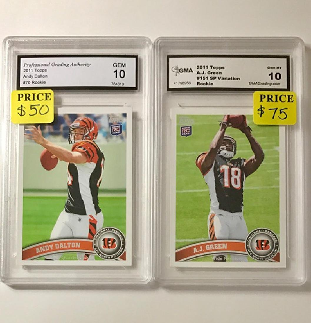 Lot of 2 Pro-Bowl Star NFL Rookie Football Cards