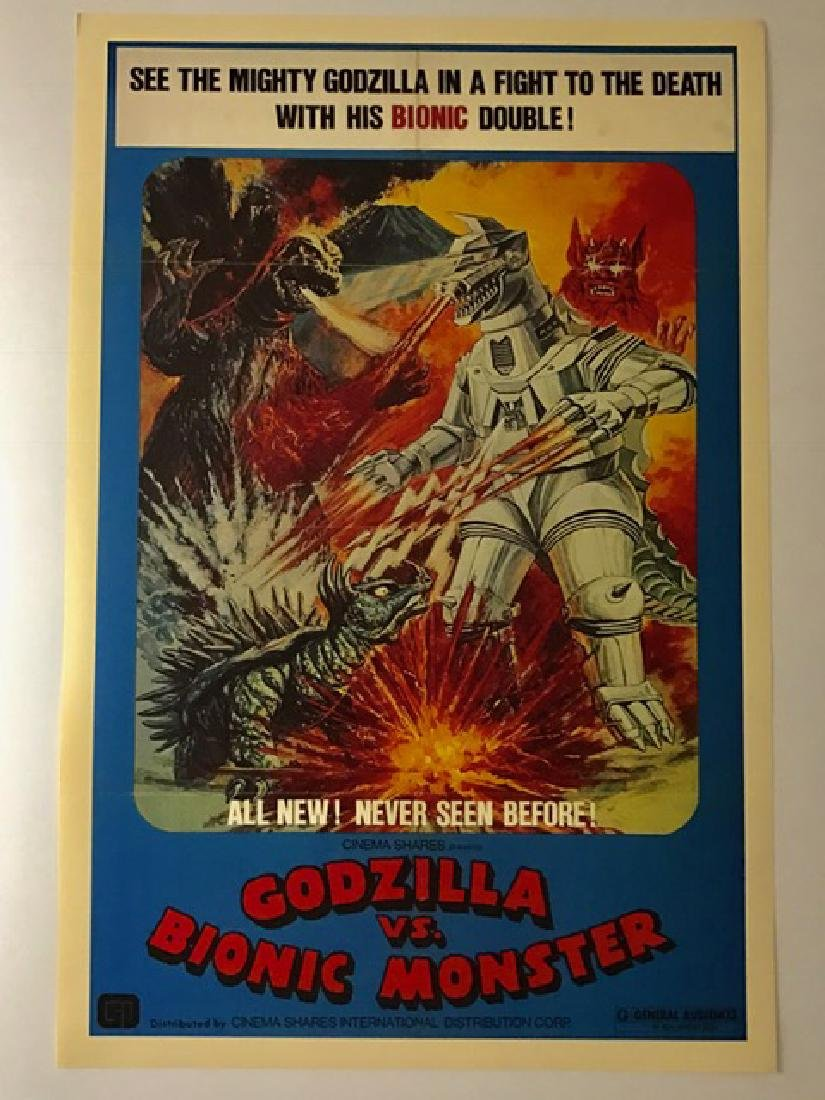 GODZILLA vs. BIONIC MONSTER Lobby Card Poster