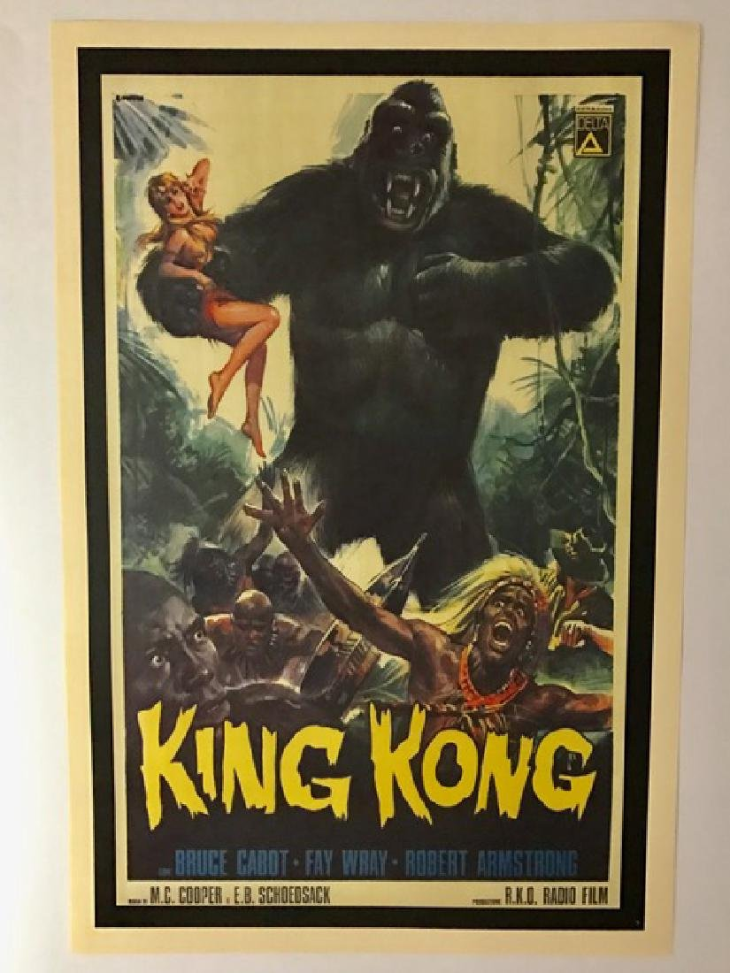 1940's KING KONG Movie Theatre Lobby Card Poster