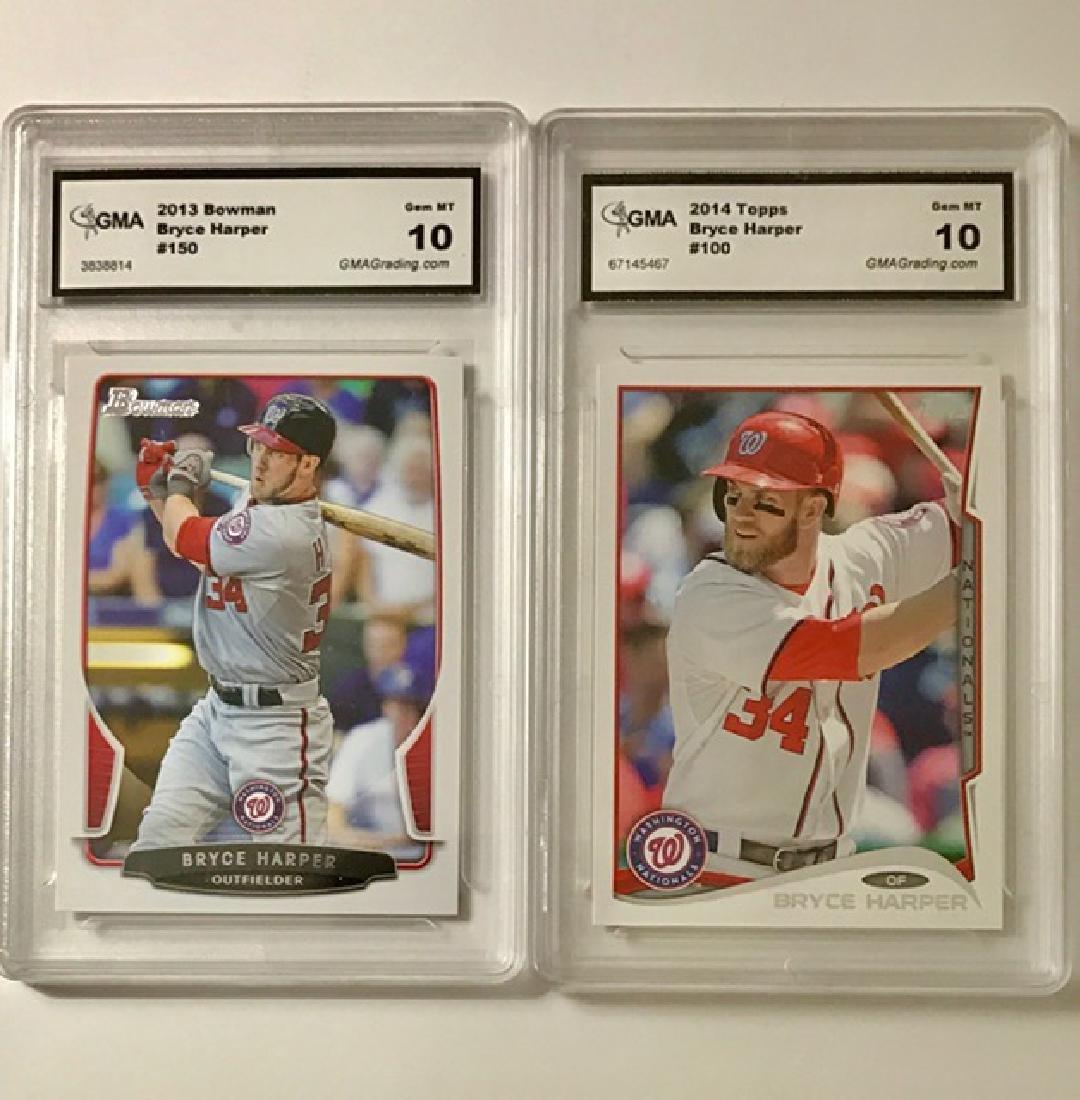 Lot of 2 Gem 10 BRYCE HARPER Rookie Baseball Cards