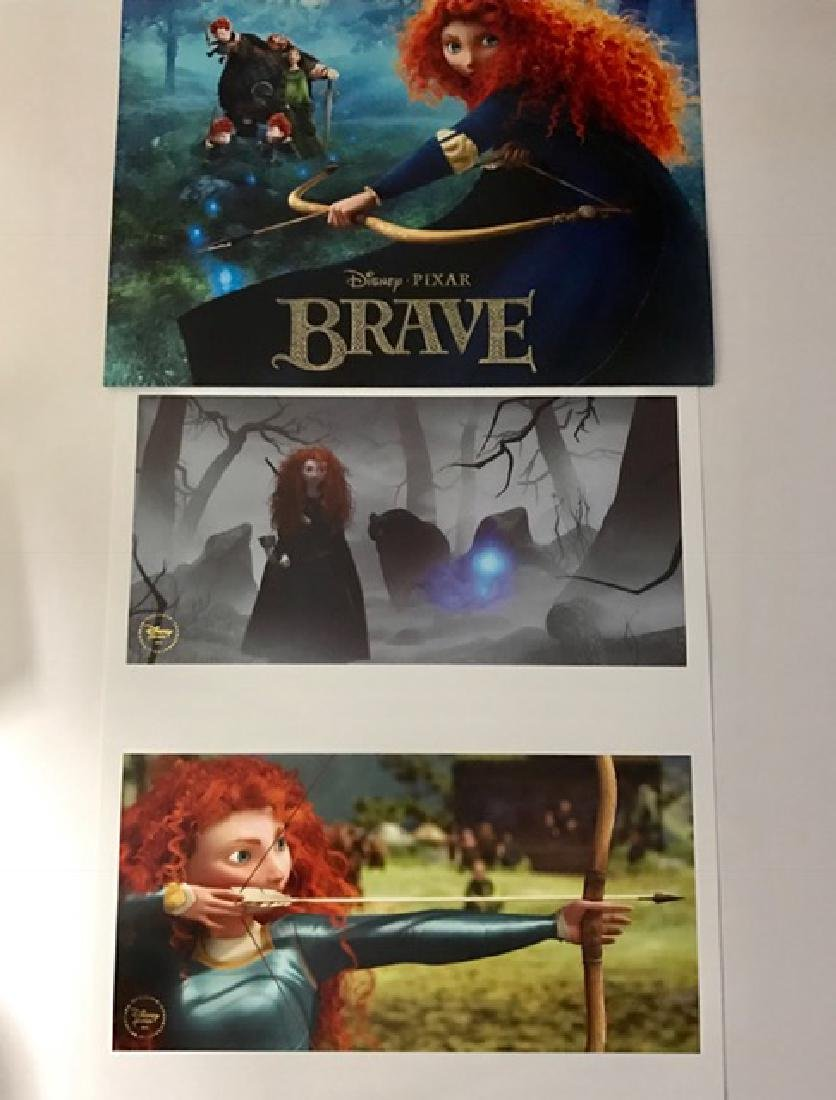 "Lot of 2 Authentic Disney's ""BRAVE†Lithographs"