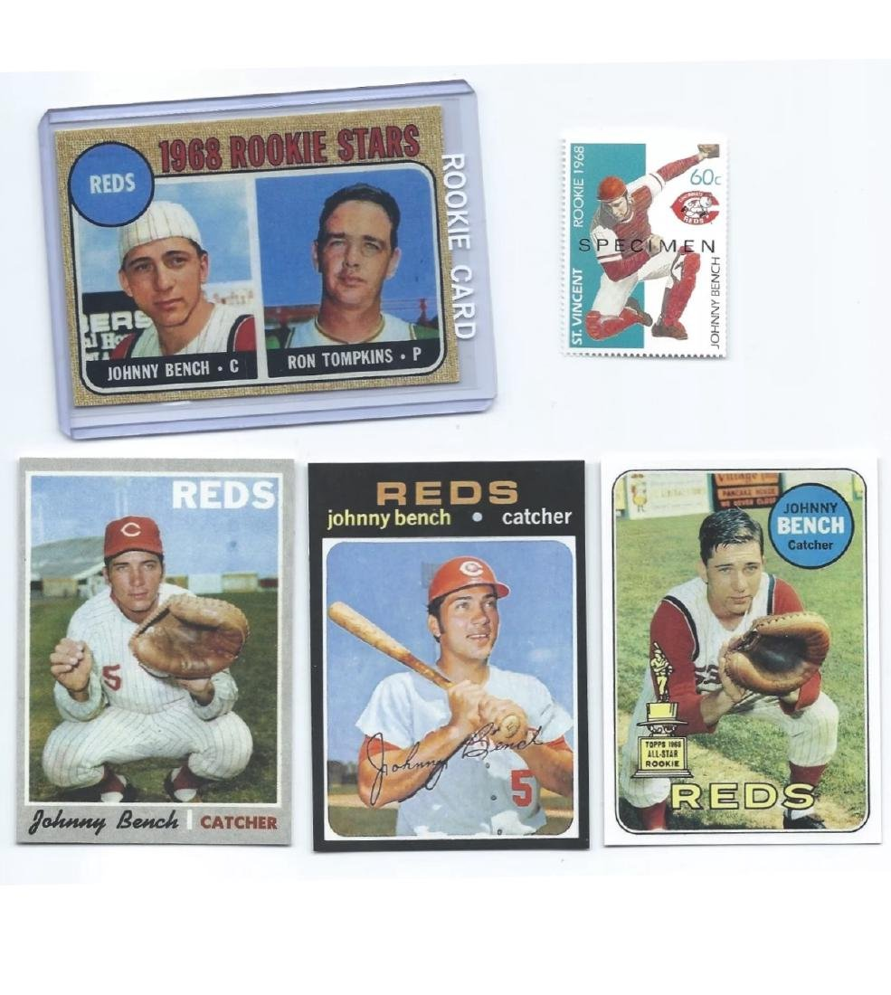 1968-1971 JOHNNY BENCH Rookie RP Baseball Cards