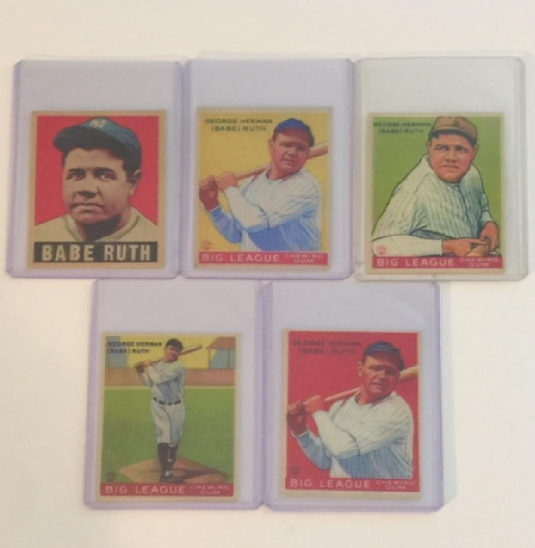 Lot of 5 BABE RUTH Exact RP Baseball Cards