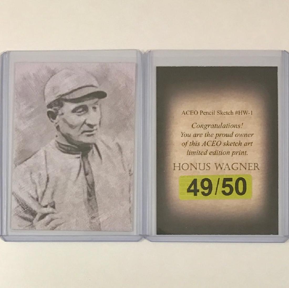 HONUS WAGNER Pencil Sketch Art Baseball Card