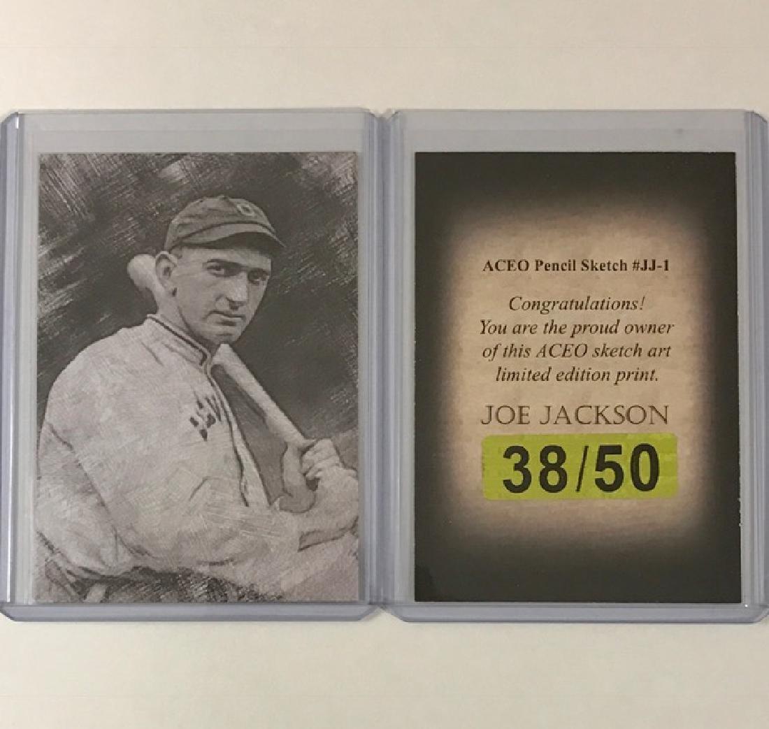"""""""Shoeless†JOE JACKSON Sketch Art Baseball Card"""