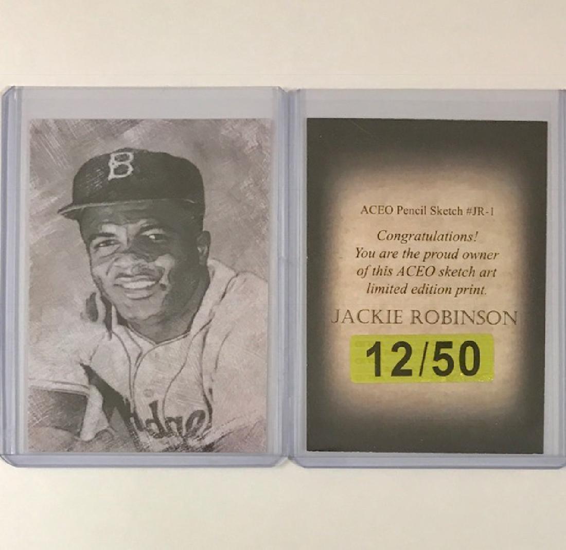 JACKIE ROBINSON Pencil Sketch Art Baseball Card