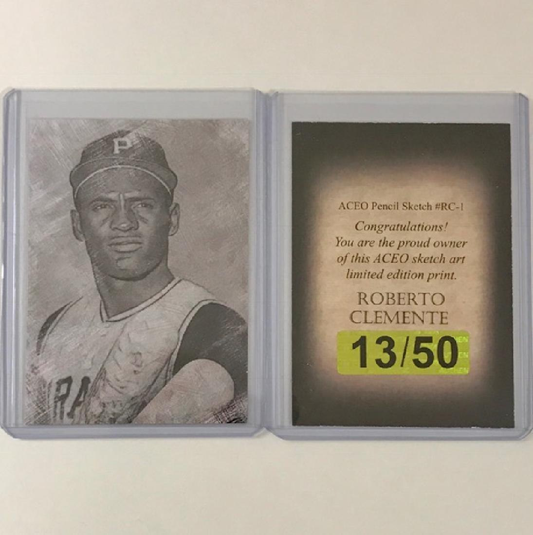 Rare ROBERTO CLEMENTE Sketch Art Baseball Card