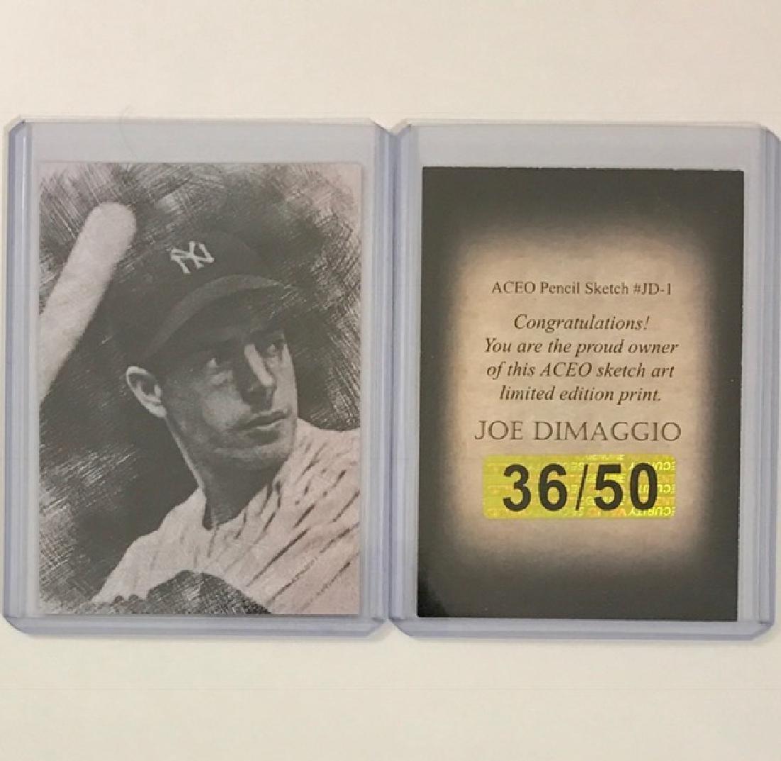 Rare JOE DIMAGGIO Sketch Art Baseball Card