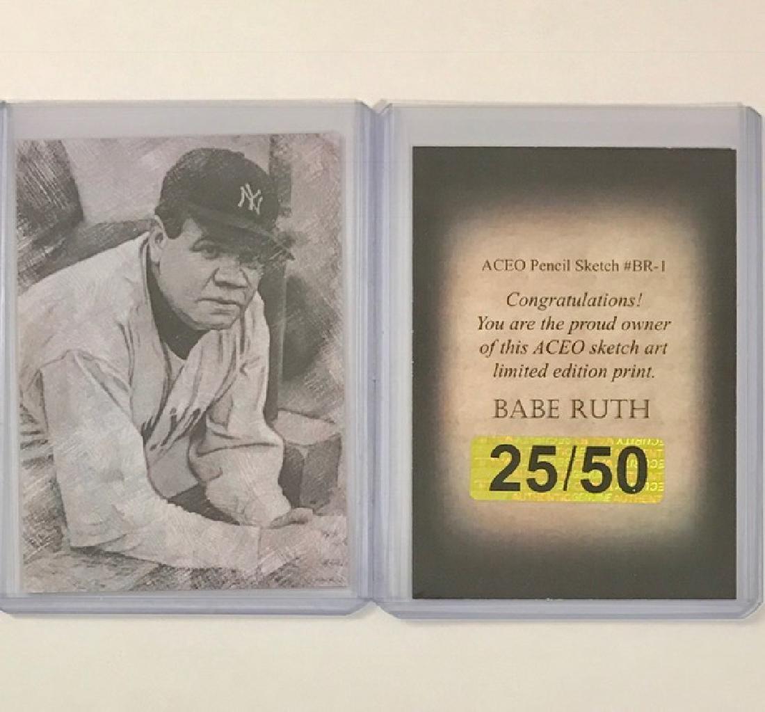 Rare BABE RUTH Sketch Art Baseball Card