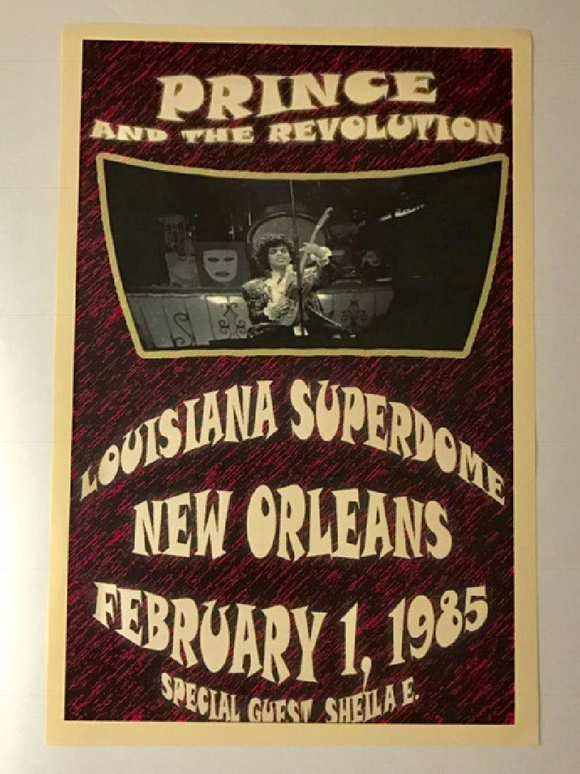 1985 PRINCE and The Revolution Concert Poster