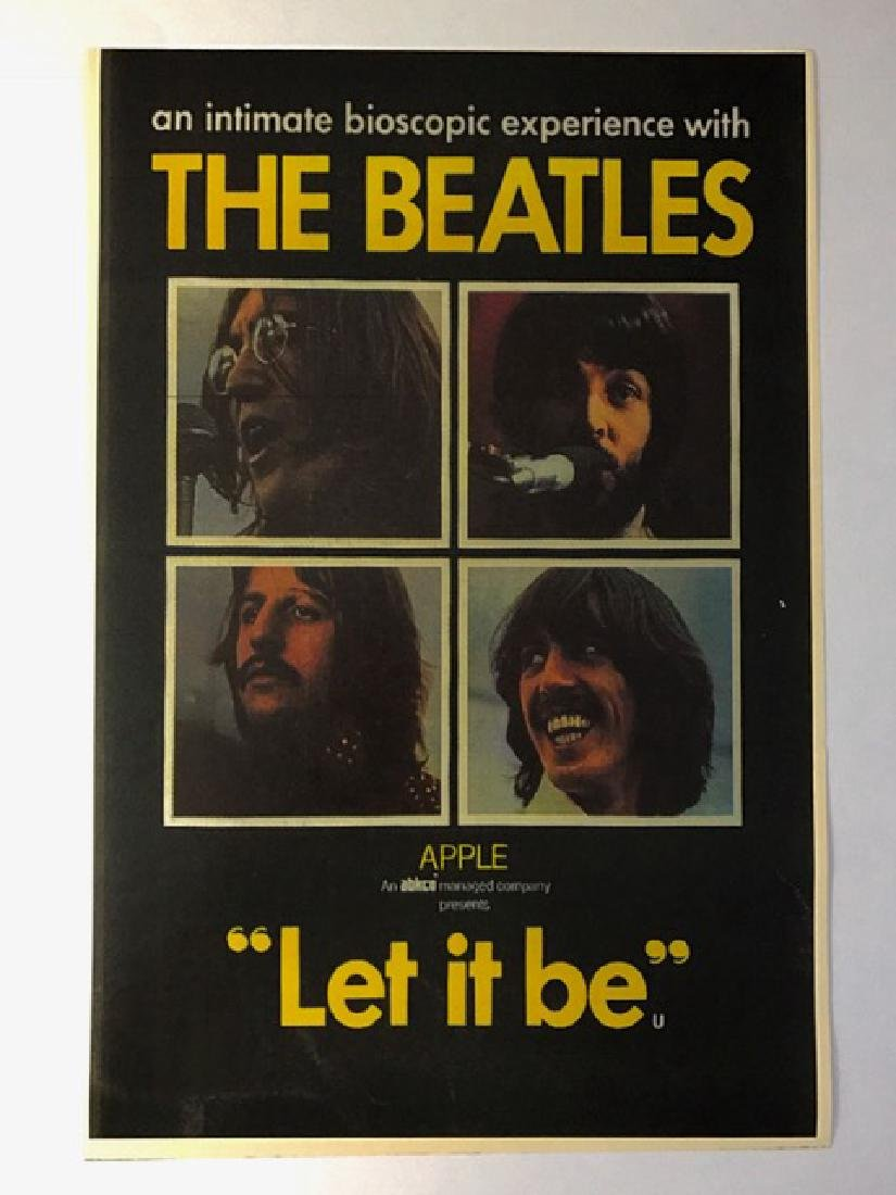 """1970 The BEATLES """"Let it Be†Concert Exp. Poster"""