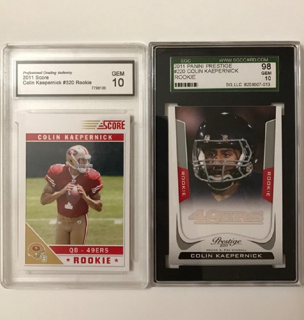 Lot of 2 COLIN KAEPERNICK Rookie Football Cards