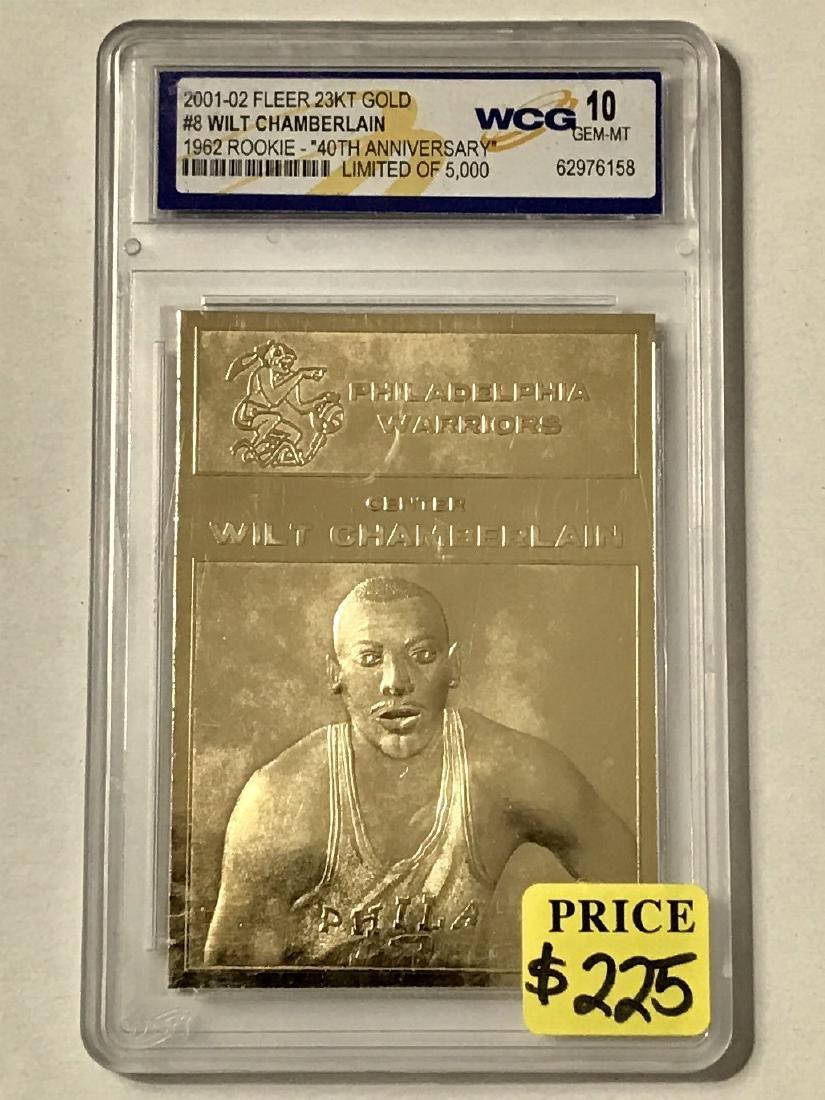 WILT CHAMBERLAIN 23k Gold Rookie Basketball Card