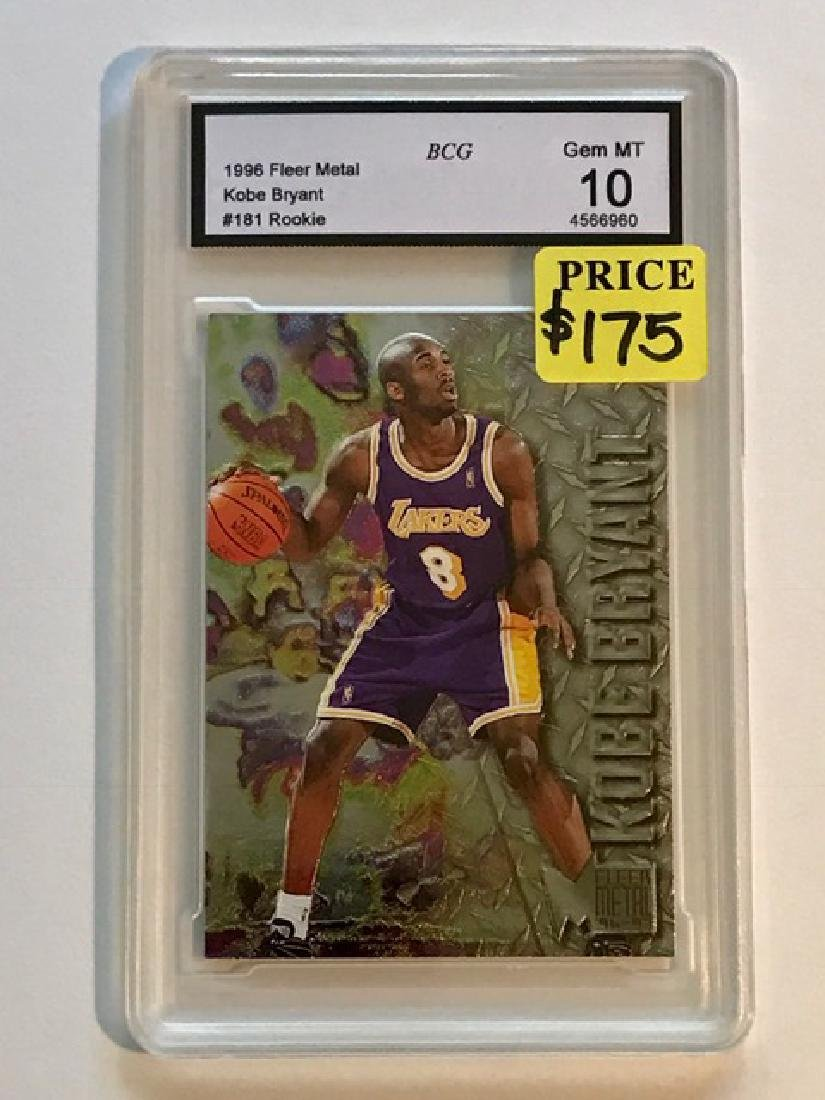 Gem Mint 10 KOBE BRYANT Rookie Basketball Card