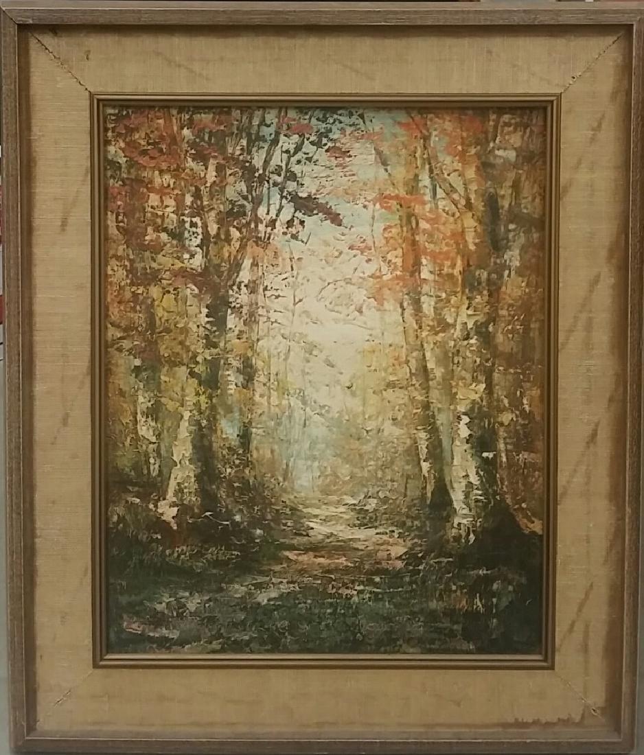 Vintage Artist Signed Oil On Canvas