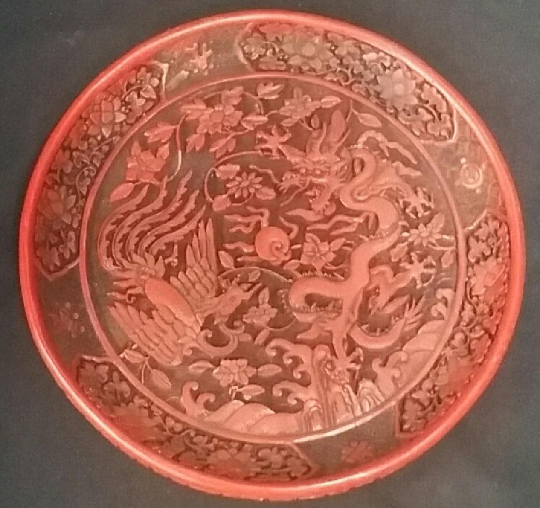Vintage Dargon Cinnabar Plate