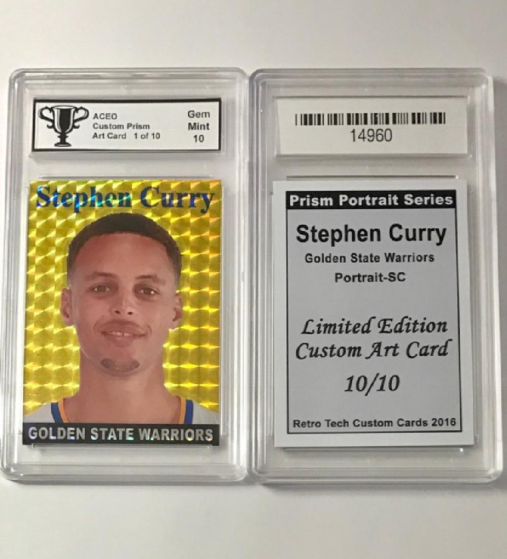 Scarce STEPHEN CURRY Custom Prism Basketball Card