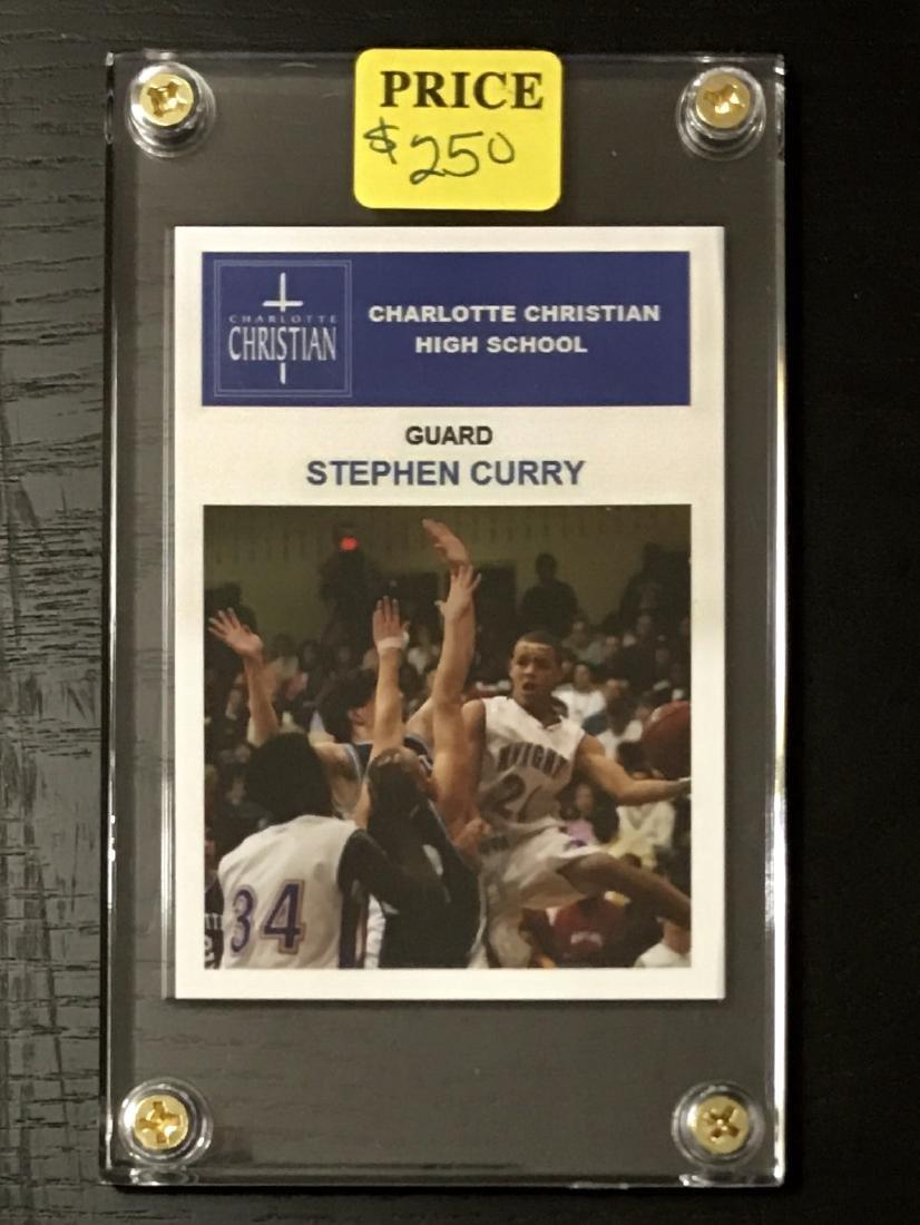 Mint STEPHEN CURRY Pre-NBA Rookie Basketball Card