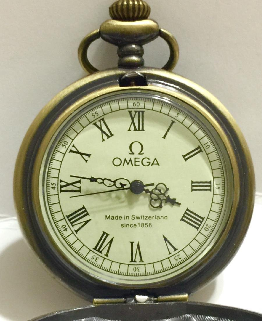 Vintage OMEGA Swiss Made Mechanical Pocket Watch - 3