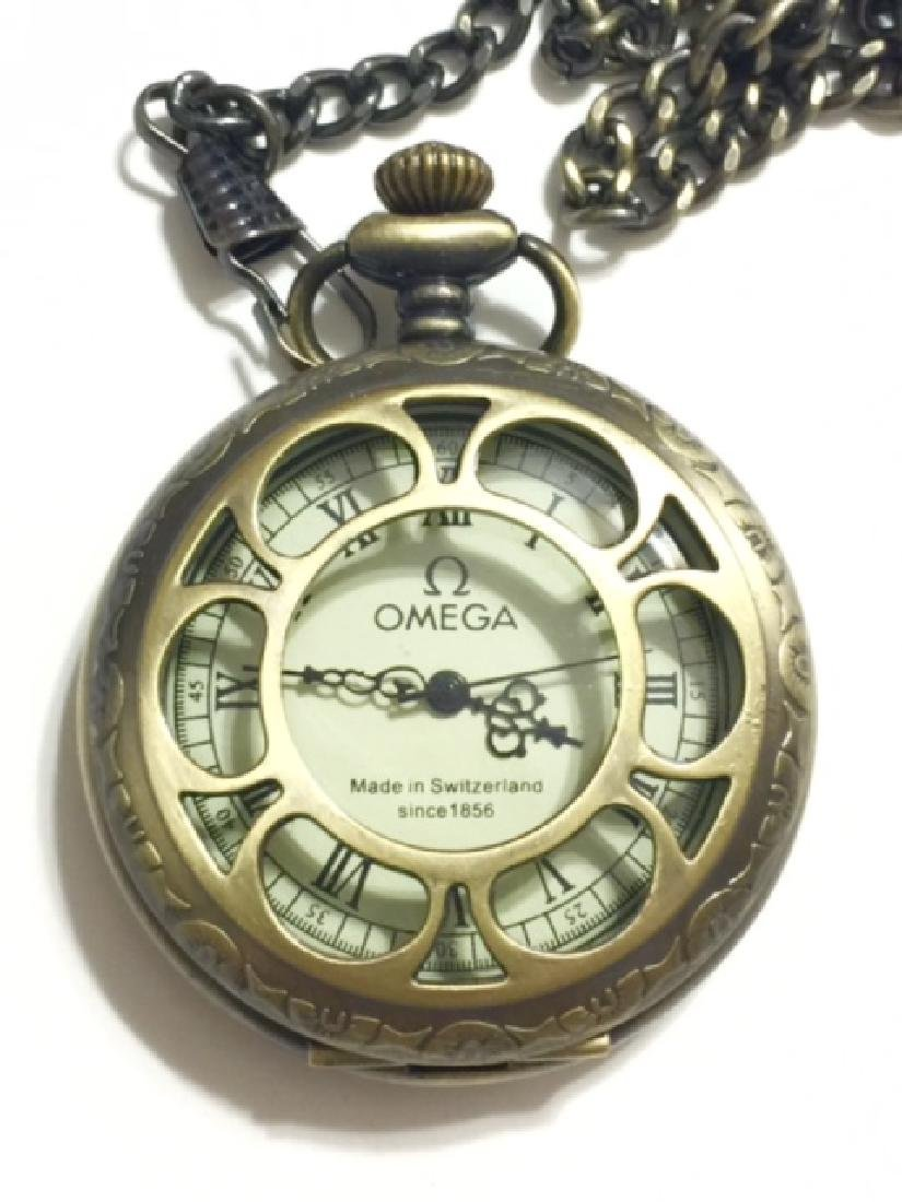 Vintage OMEGA Swiss Made Mechanical Pocket Watch - 4
